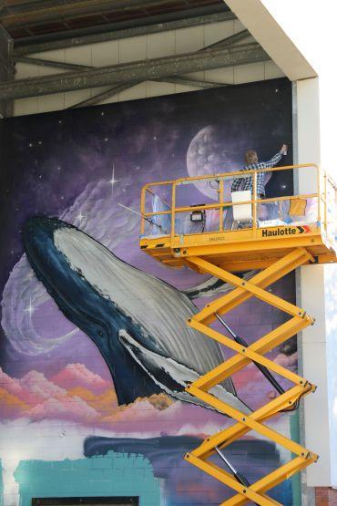Riverfeast Mural up in Bundaberg