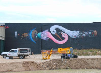 Woolongabbas latest mural