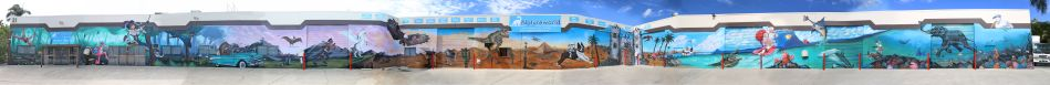 Natureworld Australia mural with Jaybeez